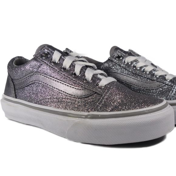 VANS Old Skool Glitter Metallic (Frost Grey) Boutique